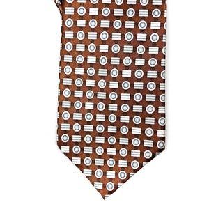 Yves Saint Laurent Neck Tie Mens Patterned Brown